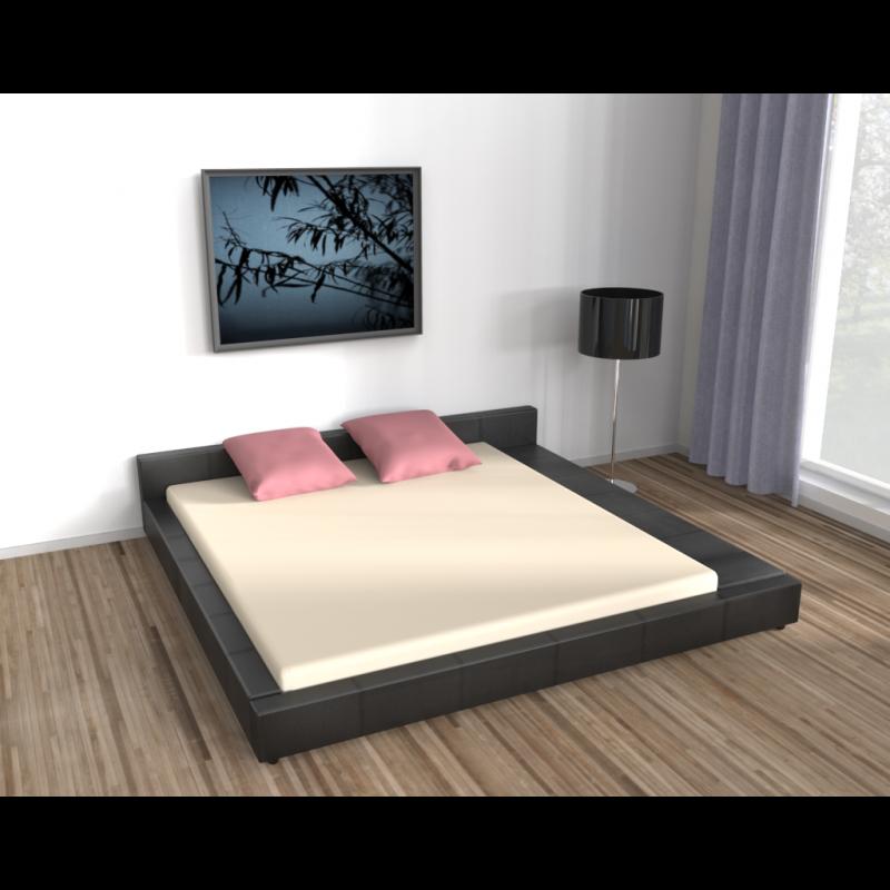 modernes bett 140x200cm. Black Bedroom Furniture Sets. Home Design Ideas