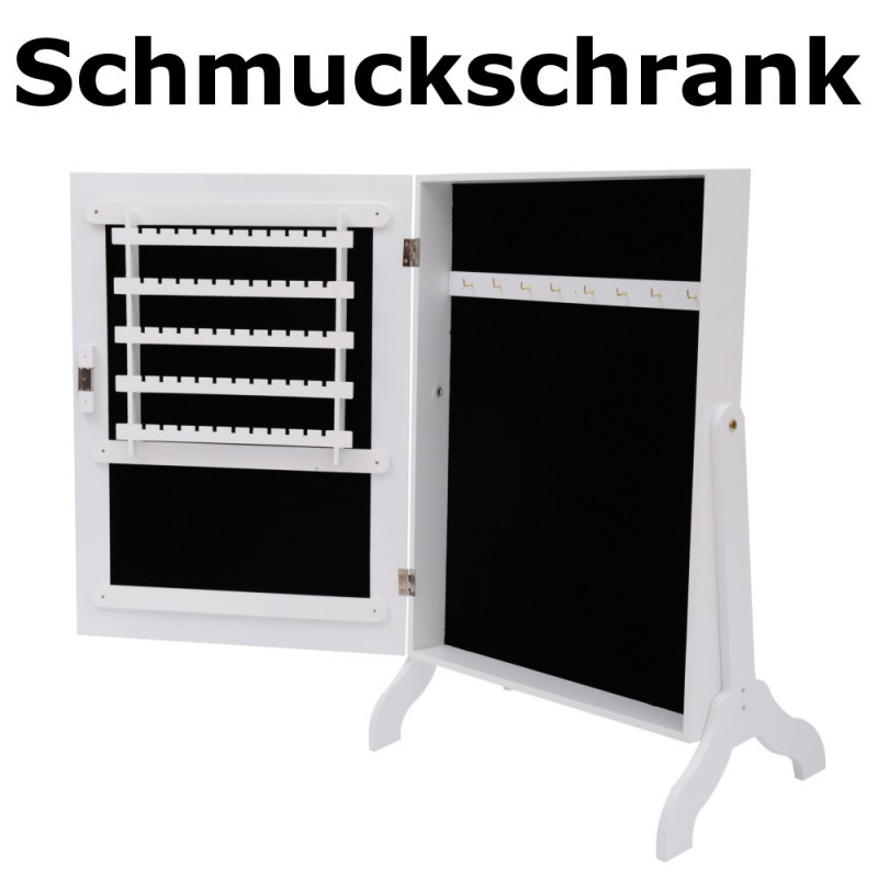 schmuckschrank mit spiegel. Black Bedroom Furniture Sets. Home Design Ideas