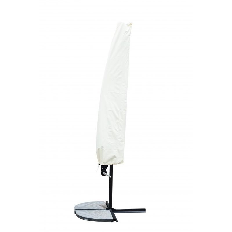 sonnenschirm ampelschirm 300cm weiss gratis liefe. Black Bedroom Furniture Sets. Home Design Ideas