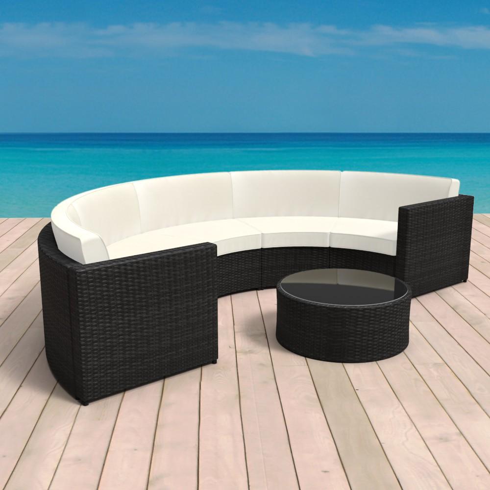 Rattan lounge halbrund  Rattan Lounge halbrund