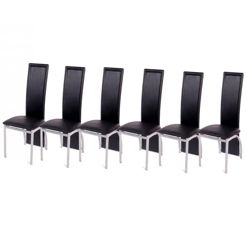elegante esszimmerst hle schwarz 6 er set. Black Bedroom Furniture Sets. Home Design Ideas