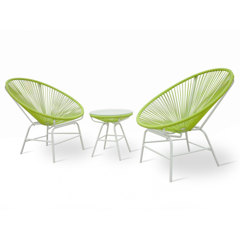 Gartenmöbel Set, grün (Gratis Lieferung)