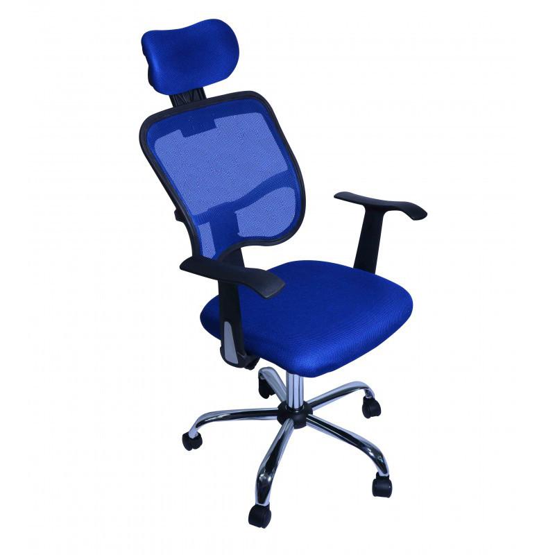 ergonomischer chefsessel b rostuhl blau. Black Bedroom Furniture Sets. Home Design Ideas