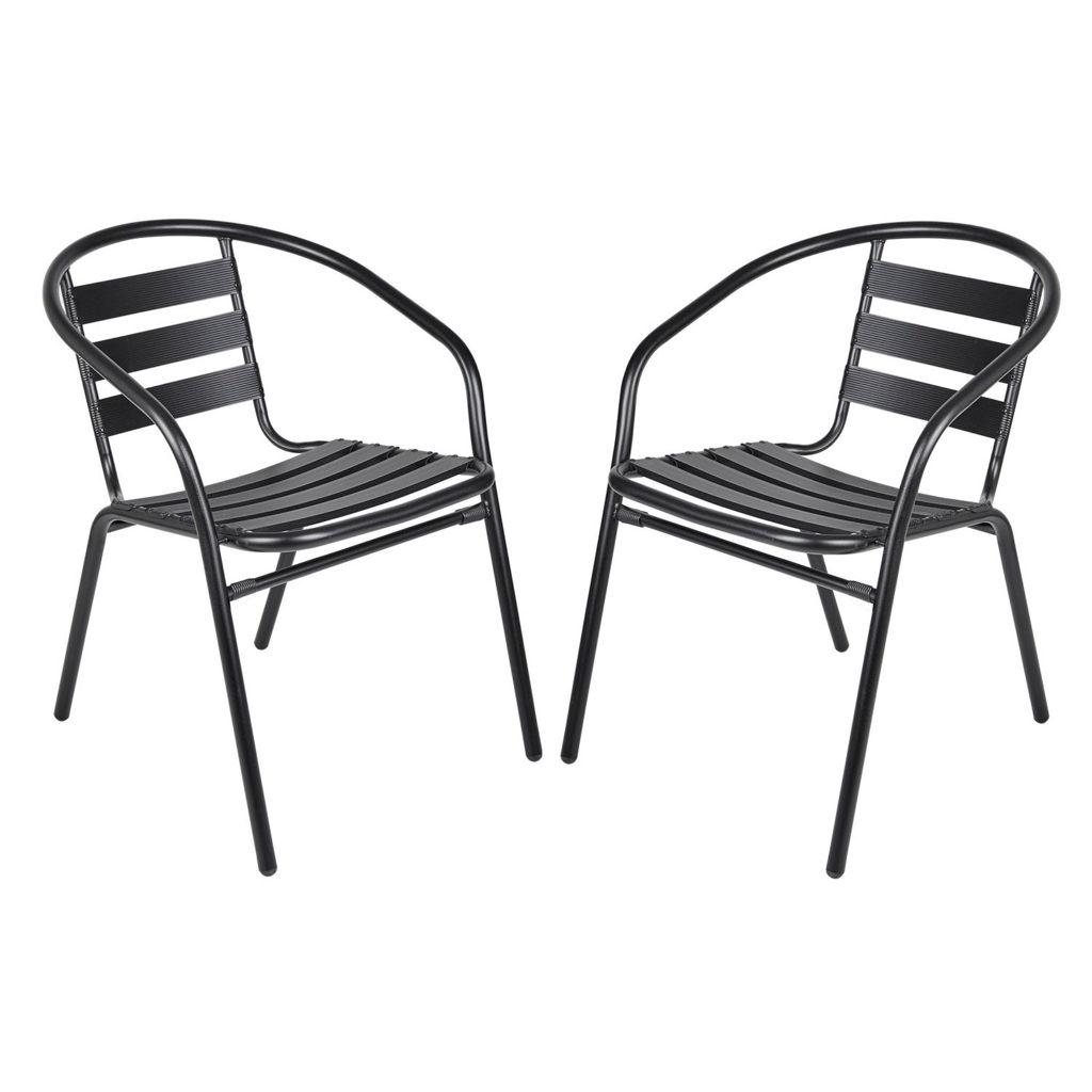 Gartenmöbel Gartenset Tisch Rund Und Stühle Schwarz