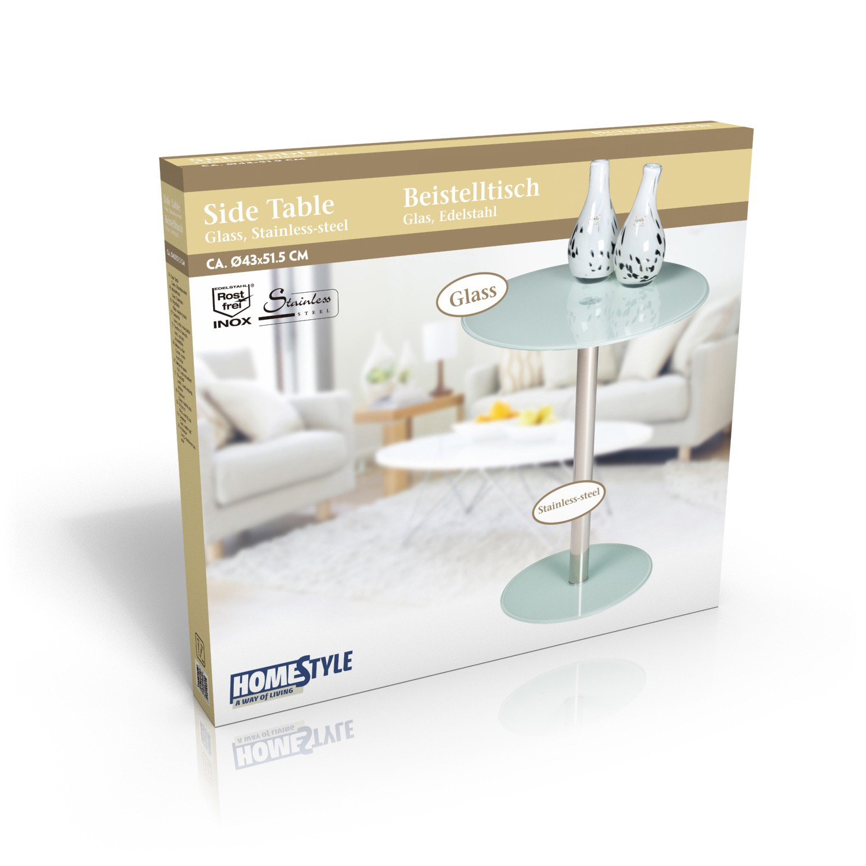 glas beistelltisch rund. Black Bedroom Furniture Sets. Home Design Ideas