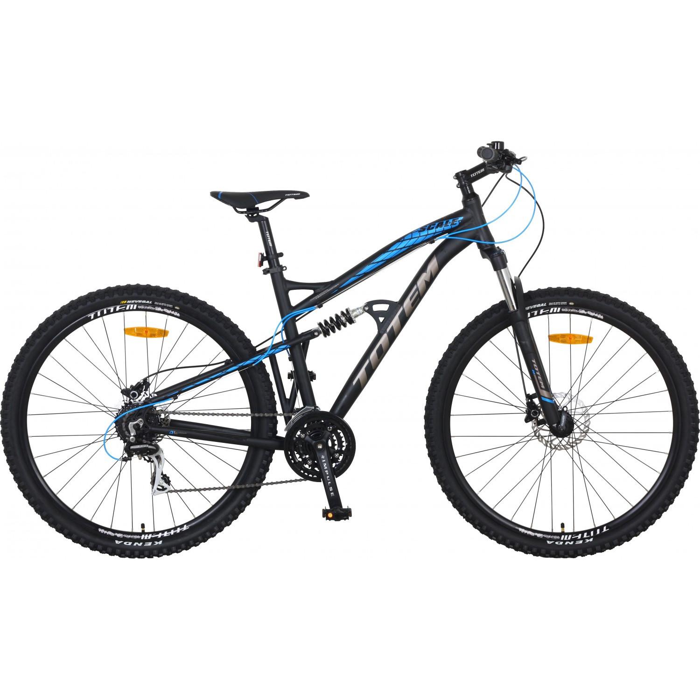 TOTEM vollgefedertes Mountainbike, schwarz/blau