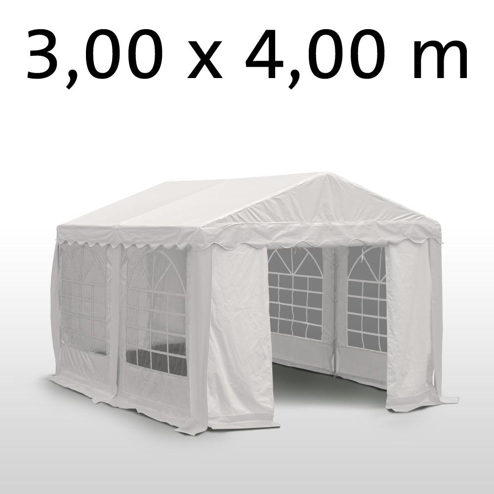 Profi PVC Partyzelt 3x4 m, weiss (Gratis Lieferung