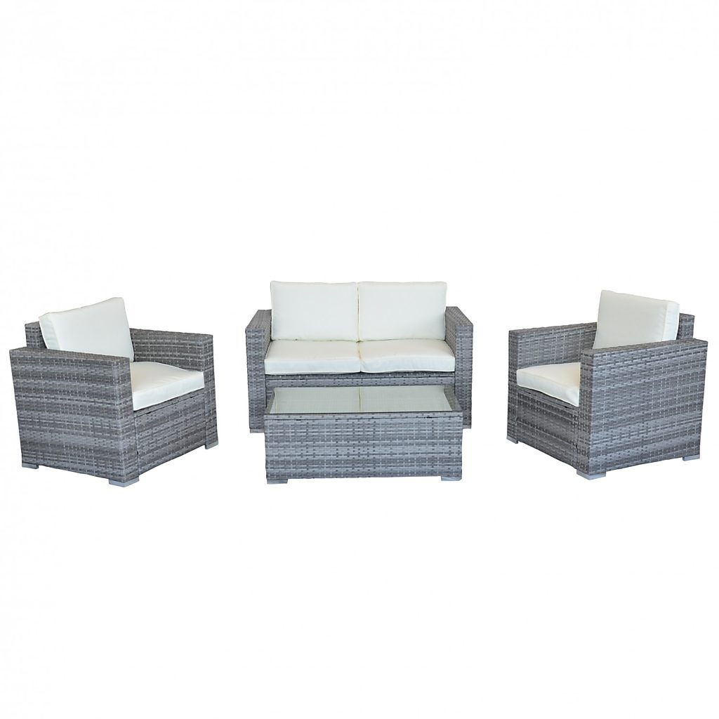 rattan lounge venezia grau. Black Bedroom Furniture Sets. Home Design Ideas