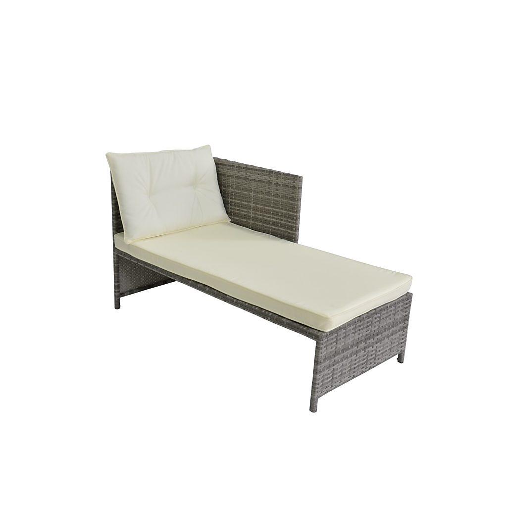 rattan lounge nevada grau. Black Bedroom Furniture Sets. Home Design Ideas