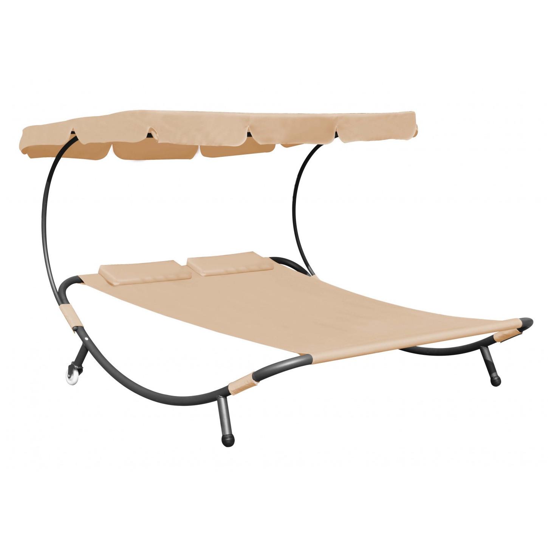 sonnenliege gartenliege 2 personen beige. Black Bedroom Furniture Sets. Home Design Ideas