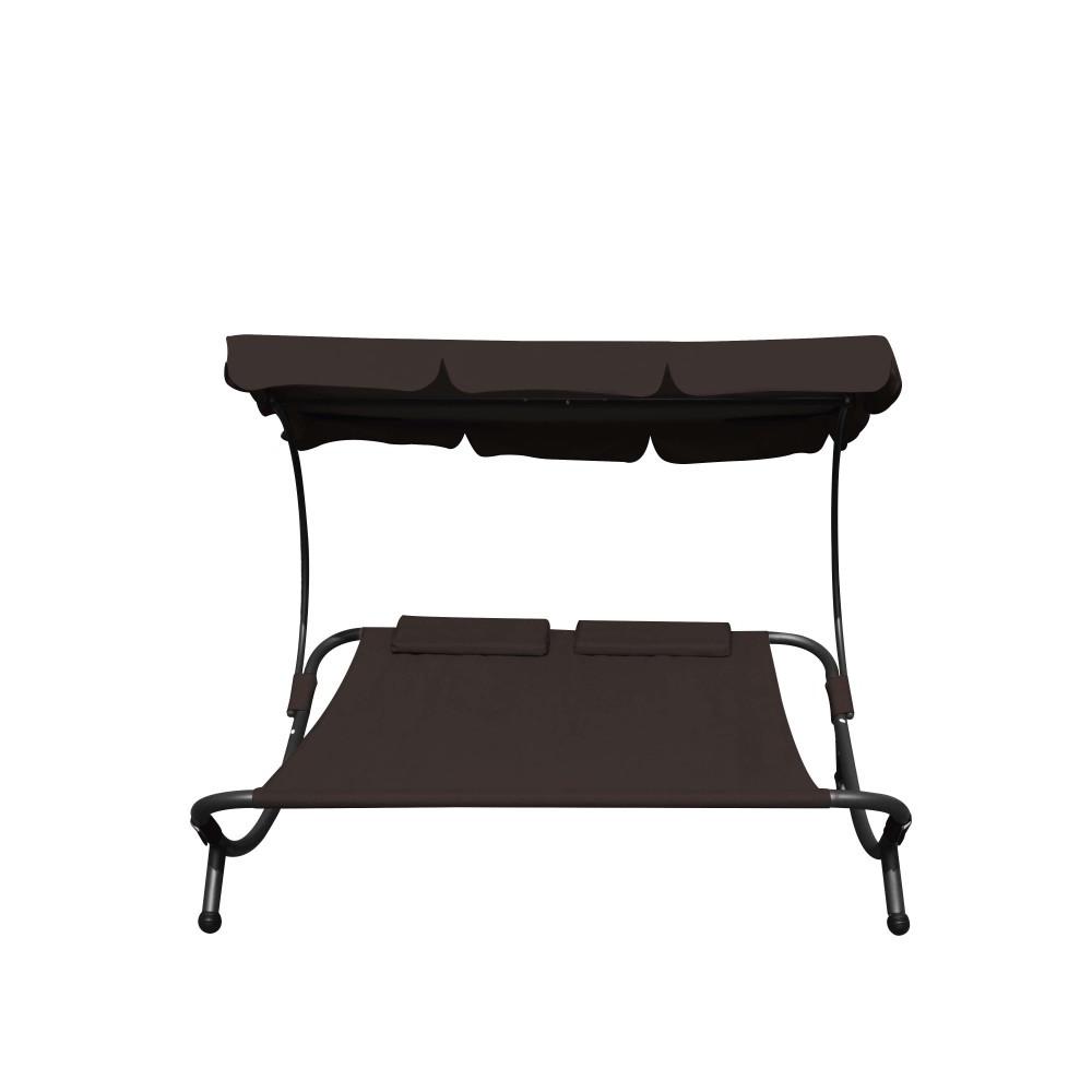 sonnenliege gartenliege 2 personen braun. Black Bedroom Furniture Sets. Home Design Ideas