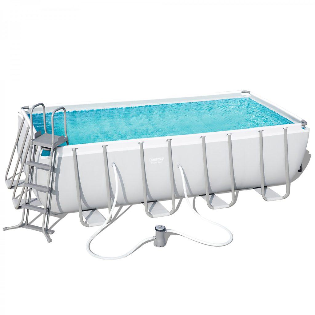 bestway swimming pool komplett set 488 x 244 x 122 cm. Black Bedroom Furniture Sets. Home Design Ideas