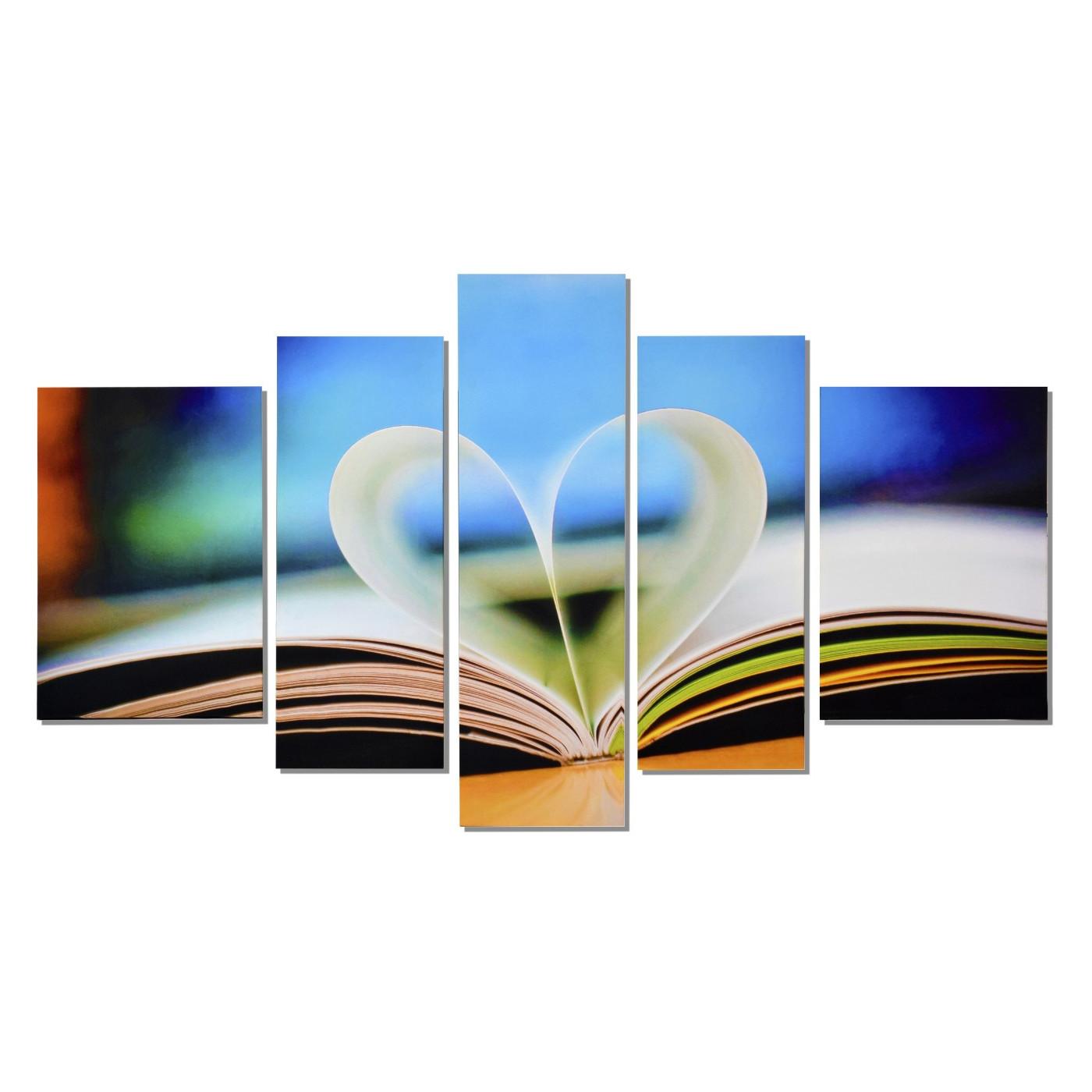 book of love wandbild 5 teilig. Black Bedroom Furniture Sets. Home Design Ideas