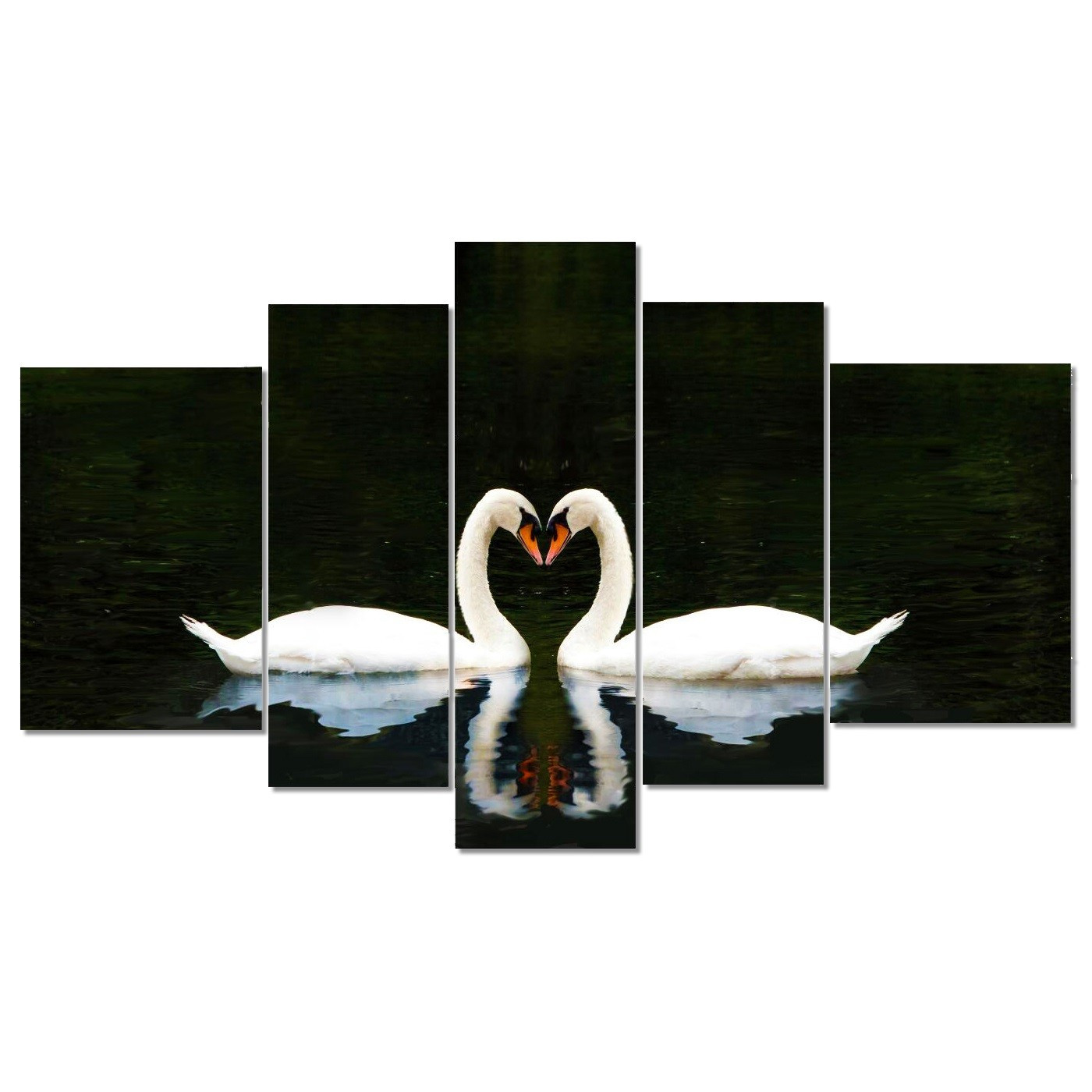 Swan Wandbild (5-teilig)