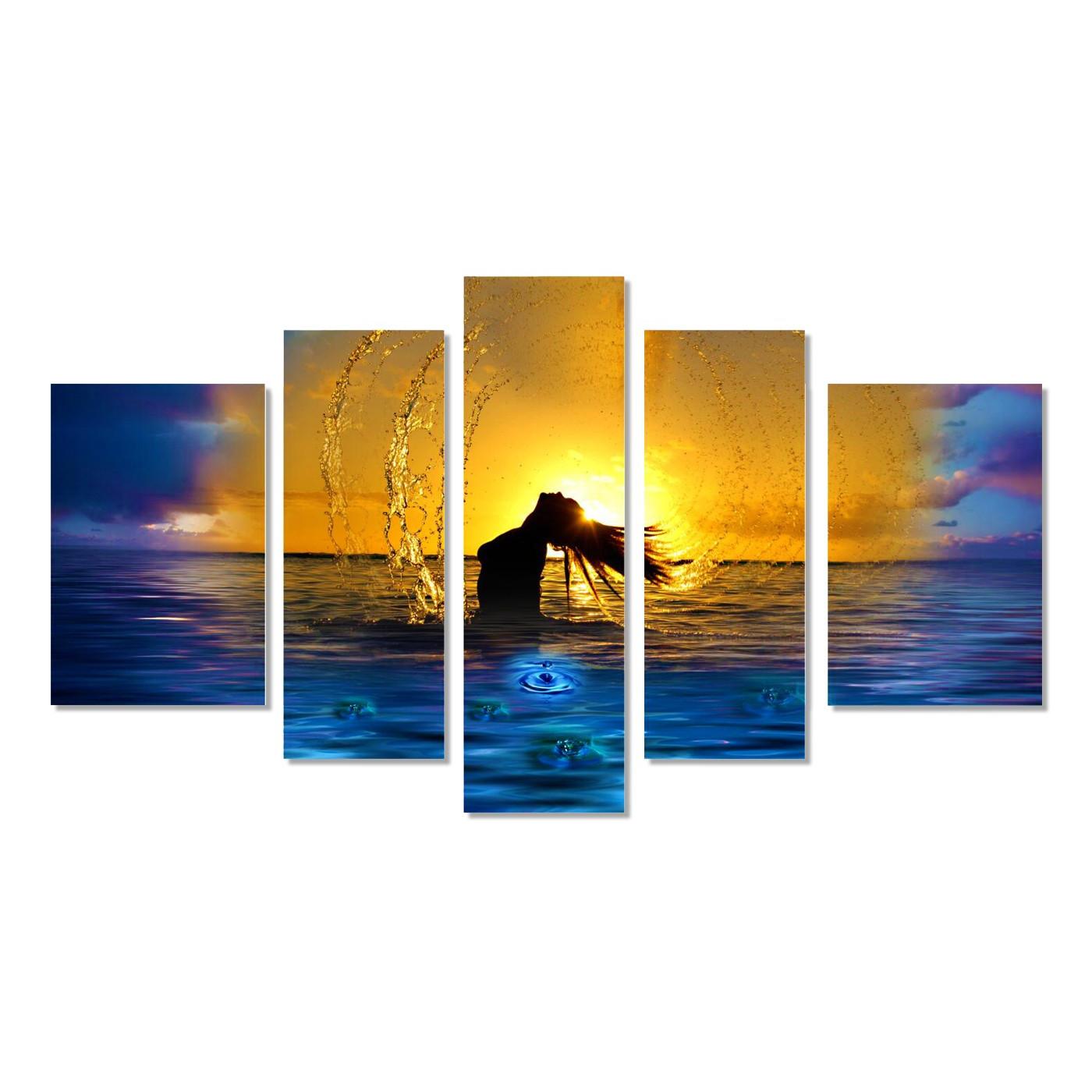 beach beauty wandbild 5 teilig. Black Bedroom Furniture Sets. Home Design Ideas