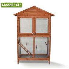 Voliere Holz Vogelvoliere XL