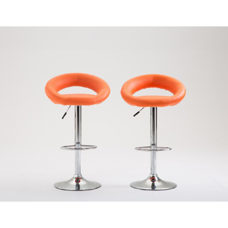 Barhocker Wanda orange im 2er-Set