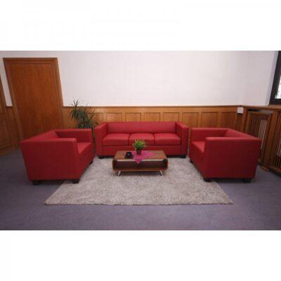 3 1 1 sofagarnitur couchgarnitur rot