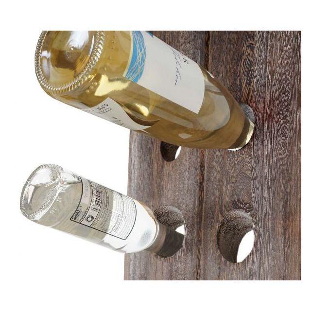 Rüttelbrett Flaschenregal für 20 Flaschen Shabby-Look braun Deko-Weinregal